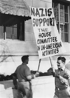 nazi party support for huac photograph wisconsin historical society