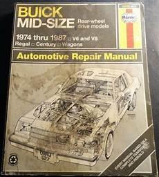 free car repair manuals 1987 buick regal head up display 1974 1987 haynes buick mid size regal century service repair manual p n 627 ebay