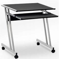 petit bureau noir bureau informatique meuble pc ordinateur table tiroir