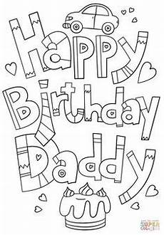 Ausmalbilder Geburtstag Papa Printable Coloring Birthday Cards