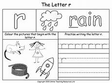 pre k letter r worksheets 24414 letters of the alphabet teaching pack 24 powerpoint presentations and 26 worksheets by