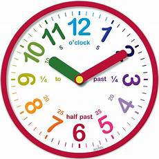 teaching time printable clock 3714 acctim lulu teaching time wall clock educational aid learning tell times ebay