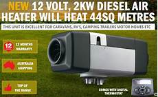 new 12 volt 2kw diesel air heater will heat 44sq meters