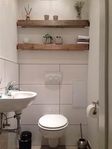 modern trifft rustikal holz balken regal g 228 ste wc home