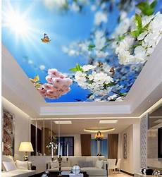 flower wallpaper ceiling beautiful and blue flowers living room bedroom