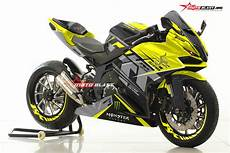 Cbr250rr Modif by Modifikasi Striping Honda Cbr250rr Black Isle Tt