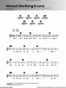 sinatra almost like being in love sheet music for piano solo chords lyrics melody