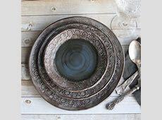 Modern Rustic Dinnerware Place Setting Handmade Ceramic