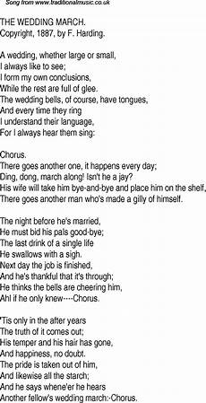 old time song lyrics for 15 the wedding march