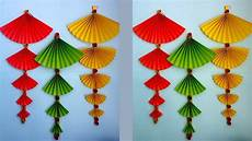 Home Decor Ideas Using Paper by How To Make Paper Wall Hanging Easy And Simple