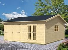 garage de jardin pas cher garage voiture bois madrier de 45m avec 2 compartiments
