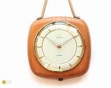mid century junghans wall clock modern deco bauhaus