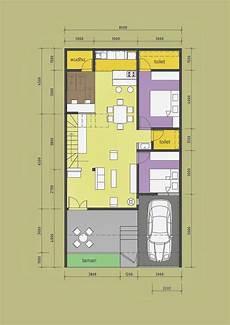 101 Denah Rumah Minimalis Panjang Gambar Desain Rumah