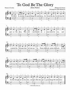 free piano arrangement sheet music to god be the glory