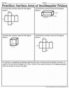 prisms and cylinders surface area worksheets math aids com pinterest geometry area