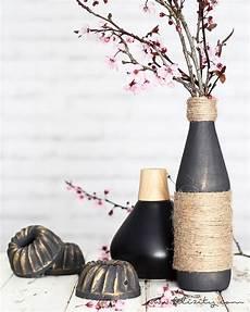 edle vasen aus flaschen und jutegarn filizity