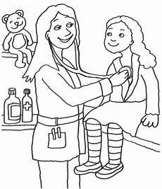 kostenlose malvorlage berufe kinder 228 rztin zum ausmalen