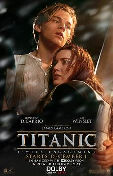 titanic is all to re release in 80 theaters its