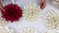 diy paper dahlia tutorial my wedding backdrop flowers