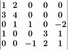 laplace entwicklungssatz 5x5 matrix