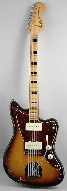 jaguar neck block inlays 70s fender jazzmaster with black binding on the neck and