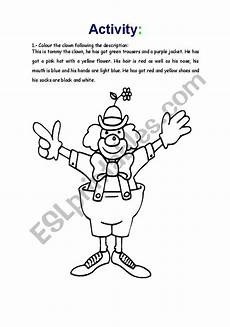 english worksheets the clown has got revision of