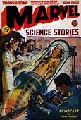 Norman Saunders  Cover Of Marvel Science Stories For
