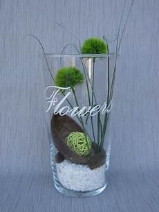 eine glasvase mit deko quot flowers quot floristik4u auf