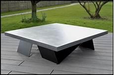 table basse en béton ciré steelblast creation et fabrication de meubles design