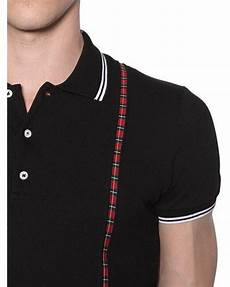Suspender Polos dsquared 178 suspenders effect cotton piqu 233 polo in black for