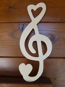 Notenschlüssel Aus Holz - notenschl 252 ssel violinschl 252 ssel holz kreativwerkstatt