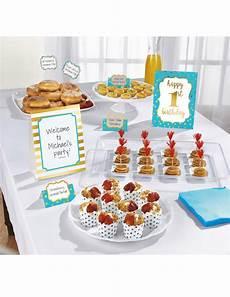 kit de d 233 coration buffet 1st birthday bleu 12 pi 232 ces
