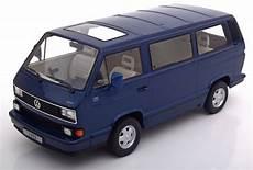 kk scale volkswagen bulli t3 multivan metallic blue 1992 1 18