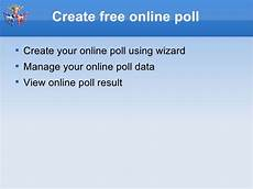 create free online poll widget