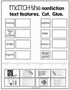 free nonfiction text features matching activity nonfiction text features text features