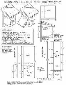 mountain bluebird house plans mountain western bluebird nesting box bird nesting box