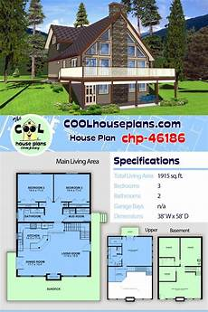 hillside house plans with walkout basement hillside home plan on a walkout basement with 1915 sq ft