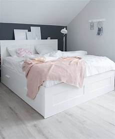 Scandi Bedroom Scandinavian Style Brimnes Ikea Bed