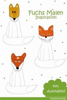 Malvorlage Gans Einfach Fuchs Malen Mit Vorlage Geht Es Ganz Einfach In 2020