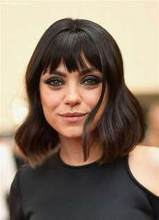 9 shoulder length bob with bangs undercut hairstyle