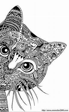 Ausmalbilder Katze Schwer Ausmalbilder F 252 R Erwachsene Bild Eine Neugierige Katze