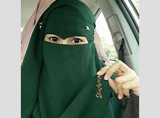 Elegant Green Niqabi   Islam women, Niqab