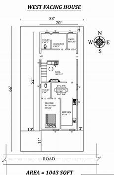 west facing house plans per vastu 20 x52 2bhk west facing house plan as per vastu shastra