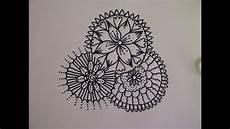 zentangle zeichnung mandala zeichnen simple doodle