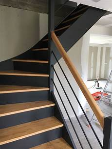 Escalier Personnalis 233 Peint Au Style Contemporain Indiustriel