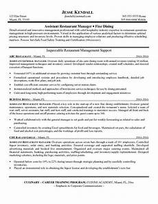 restaurant manager resume resume objective exles