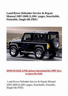 download car manuals pdf free 2004 land rover range rover on board diagnostic system land rover defender service repair manual 2007 2009 1 200 pages searchable printable