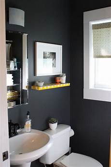 another idea for our half bath never sure if such dark colors work in a small room bathroom