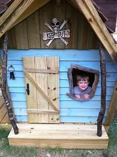 kinderspielplatz selber bauen piratenschiff mit schaukel