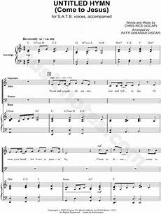 chris rice quot untitled hymn come to jesus quot piano vocal
